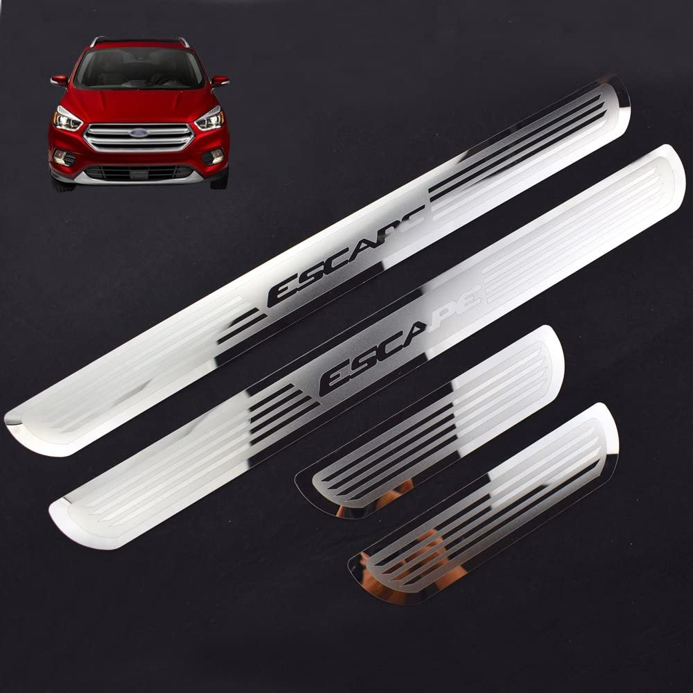 Weigesi for Ford Escape Accessories 21 21 21 21 21 21 21  Stainless Steel Door Sill Scuff Plate Door Sill Protector Cover Trim 21PCS