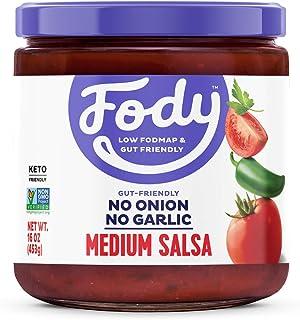 Fody Foods Vegan Medium Salsa   Chunky Tomato Jalapeno Salsa   Low FODMAP Certified   Gut Friendly IBS Friendly Kitchen St...