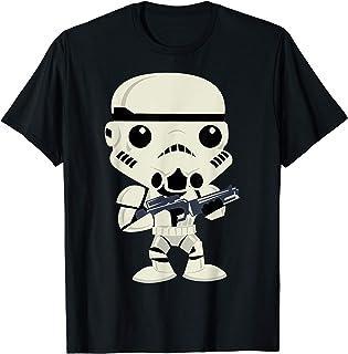 Star Wars Stormtrooper Cute Cartoon Style Maglietta