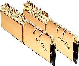G.Skill 16GB DDR4 Trident Z Royal Gold 3200Mhz PC4-25600 CL16 1.35V Dual Channel Kit (2x8GB)