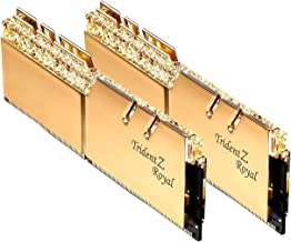 G.Skill 32GB DDR4 Trident Z Royal Gold 3200Mhz PC4-25600 CL16 1.35V Dual Channel Kit (2x16GB)