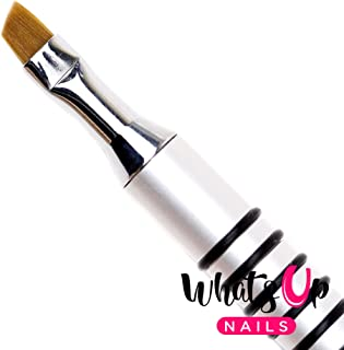 Whats Up Nails - Pure Color #4 Angular Brush for Clean Up Cuticles Skin Around Nail