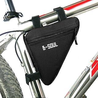 自転車用 トライアングル型バッグ  ?三角形のバイク 自転車フロントチューブ フレーム ポーチ バッグ  ホルダー サドル パニエ サイクリングバッグ ブラック