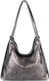 ITALYSHOP24.COM OBC Damen Tasche Rucksack 2 in 1 Umhängetasche Schultertasche Umhängetasche Daypack Leder Rucksacktasche Shopper Backpack Freizeitrucksack