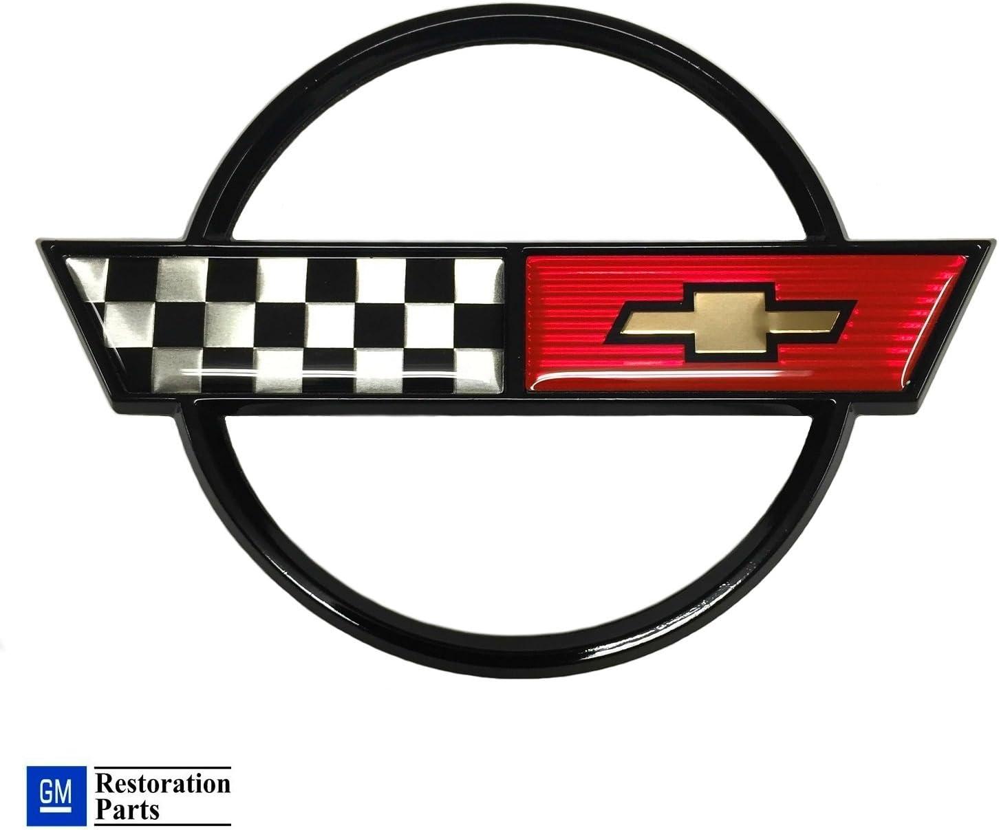 C4 Free shipping on posting reviews Corvette Rapid rise Gas Fuel Lid Emblem Cross GM Restorati Flag Official