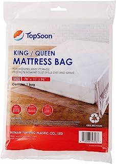 TopSoon Mattress Bag for Storage Mattress Disposal Bag King/Queen Clear