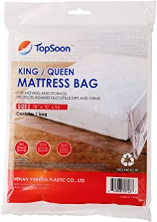 TopSoon Mattress Bag for Storage Mattress Disposal Bag King/Queen Size Clear
