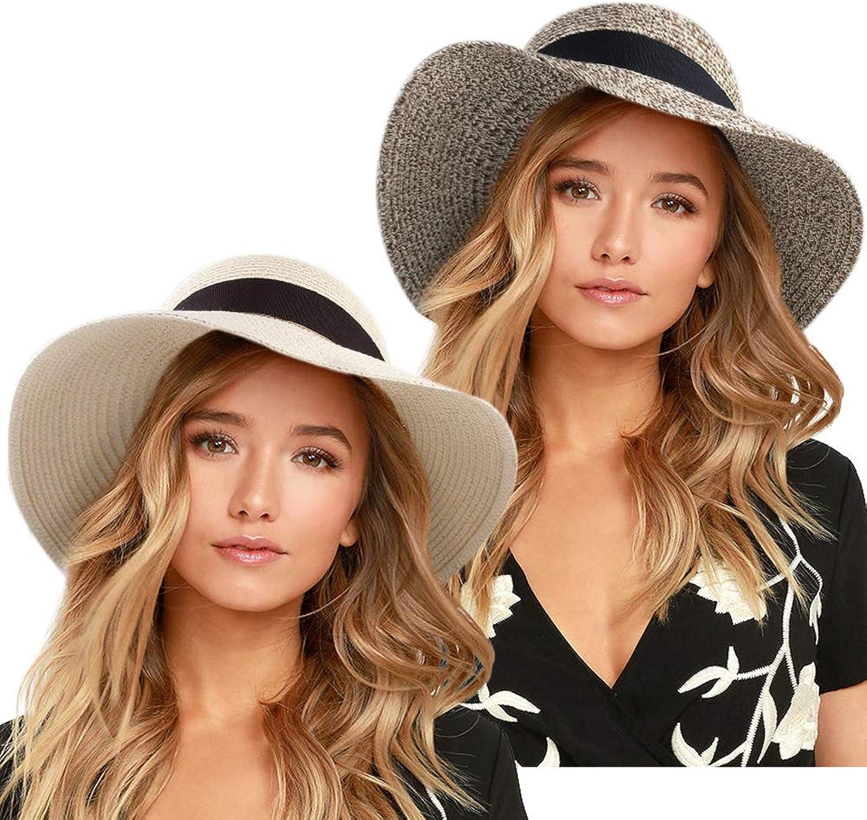 FURTALK Wide Brim Floppy Sun Hat 100% Cotton Packable Summer Beach Hats for Women