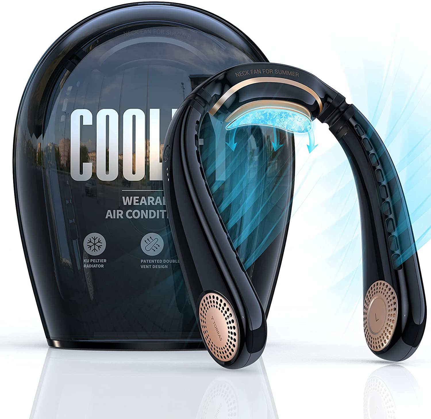 TORRAS Coolify Portable Air Conditioner unisex Hands Fan Neck Sem Free Limited Special Price