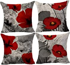 Amazon.com: red and gray throw pillows