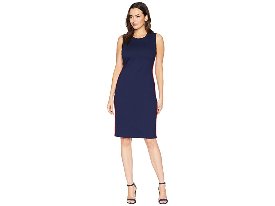 LAUREN Ralph Lauren Ponte Sleeveless Dress (Navy) Women