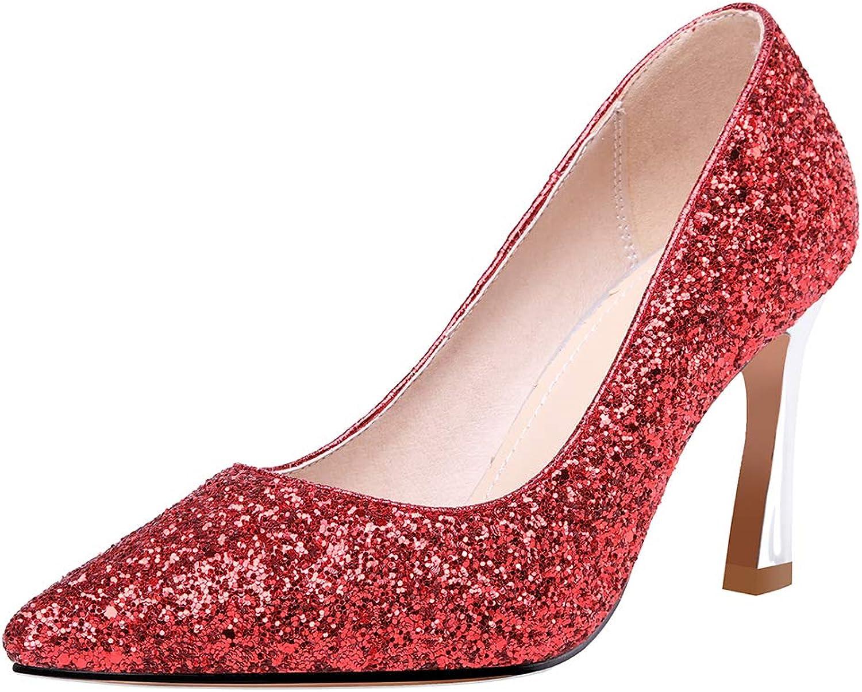 Slenderer Women shoes Fashion Glitter Pumps
