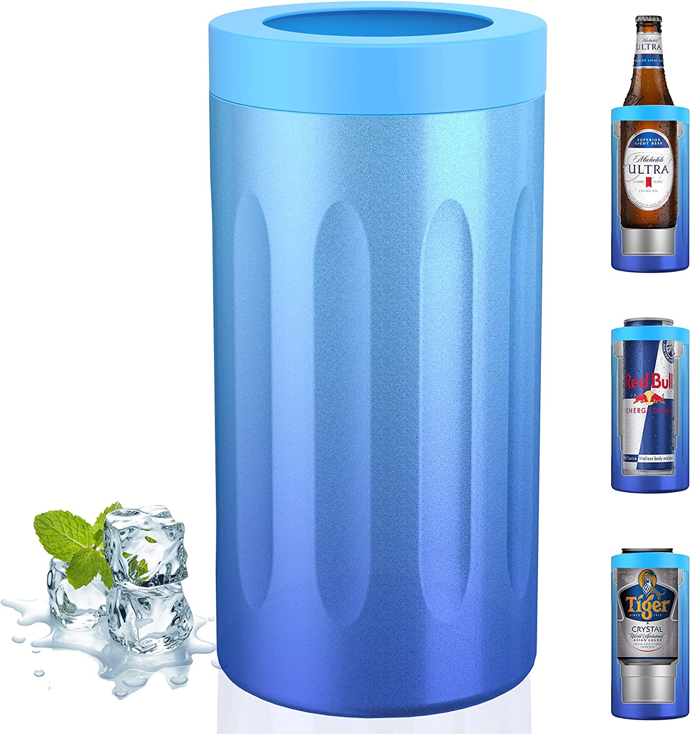 Slim Seasonal Wrap Introduction Can Cooler 4-in-1 Insulated Double Walled Beer We OFFer at cheap prices