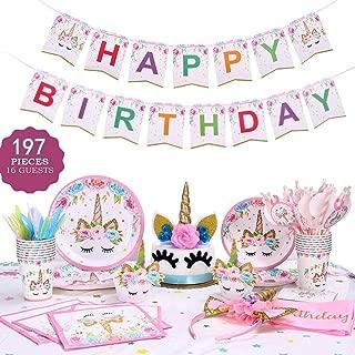 Best unicorn birthday set Reviews