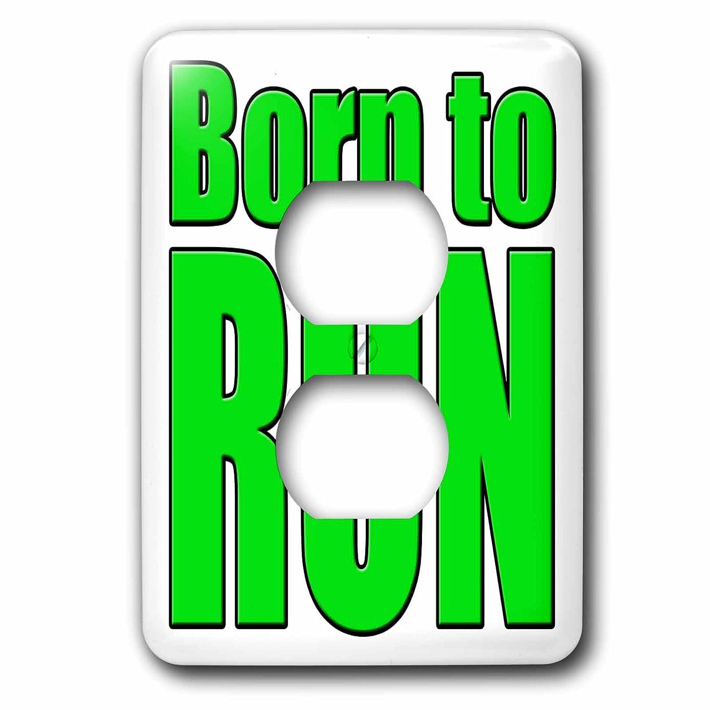 原点承知しました遠い3drose LSP _ 171890?_ 6?Born To Run、ライムグリーン?–?2プラグコンセントカバー