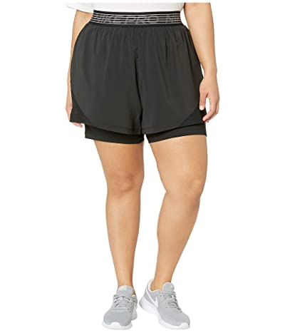 Nike Plus Size Flex 2-in-1 Shorts Woven Essential (Black/Black/Thunder Grey) Women