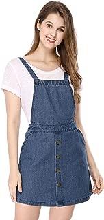 Women's Jean Dress Adjustable Straps Bib Pinafore Denim Overall Dresses