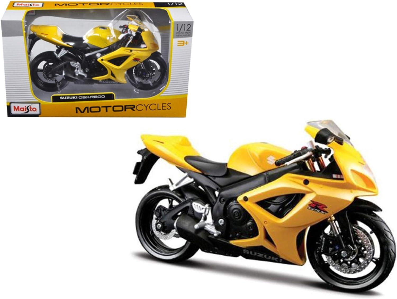 Oklahoma City Mall Maisto Suzuki GSX R Many popular brands 600 Yellow 12 31152 1 Motorcycle