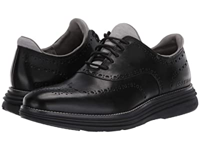 Cole Haan Original Grand Ultra Wing Ox (Black Leather/Black) Men