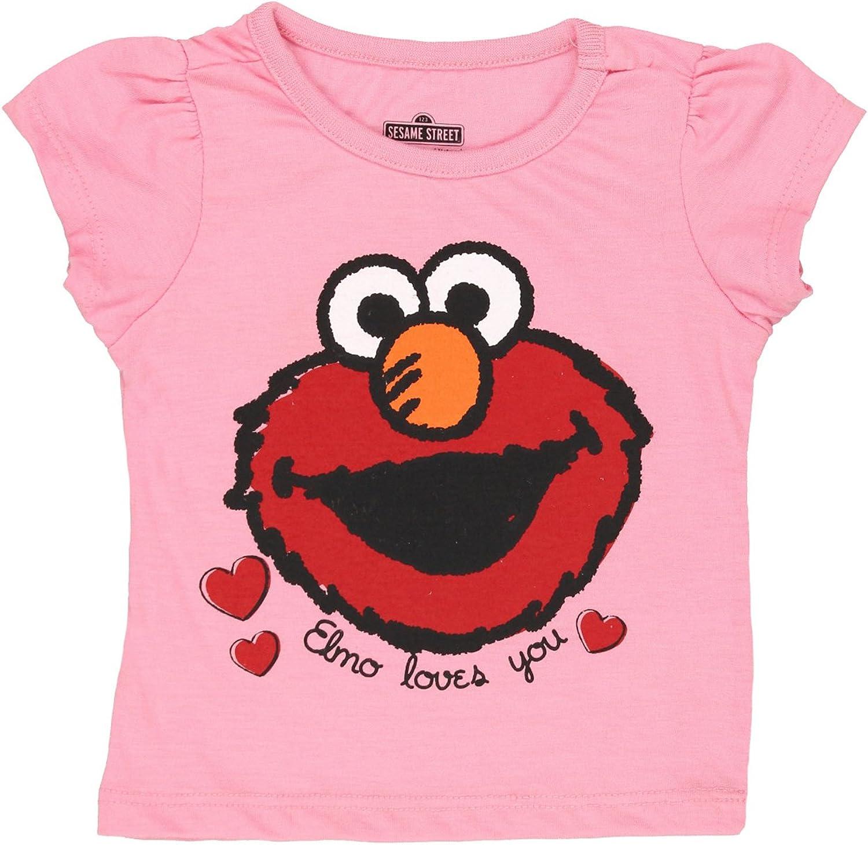Kansas City Mall Sesame Street New color Elmo Girls Short Tee Toddler Sleeve Baby