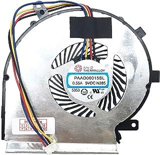 (CPU – 4 Pins Versión) Ventilador Enfriador Compatible con MSI GL72 6QD (MS-1796), GL72 7QF (MS-1795), GL72 7RD (MS-1799), GL72 7RDX (MS-1799), PE60, PE60 (MS-16J5), PE60-2QE, PE60-6QE, PE70