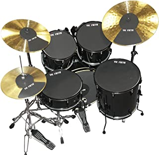 """Vic Firth LA Rock Drum and Cymbal Mute Pad Set: 10"""", 12"""", 14"""", 16"""", 22"""" Drum Pads Plus Hi-hat and 2 x Cymbal Pads"""
