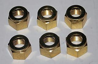 Midland 10-021LF Lead Free Brass SAE 45/° Flare Short Rod Nut 3//4 UNF Thread