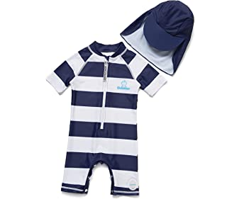 ADAVERANO Baby Boys One-Piece Sunsuits/Swimsuits S/S UPF 50+ Sun Protection