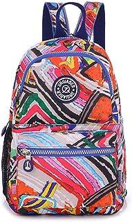 tianhengyi Niñas Pequeña mochila de nylon resistente al agua luz Sling pecho bolsa, Colorful Stripes (multicolor) - THY 8123