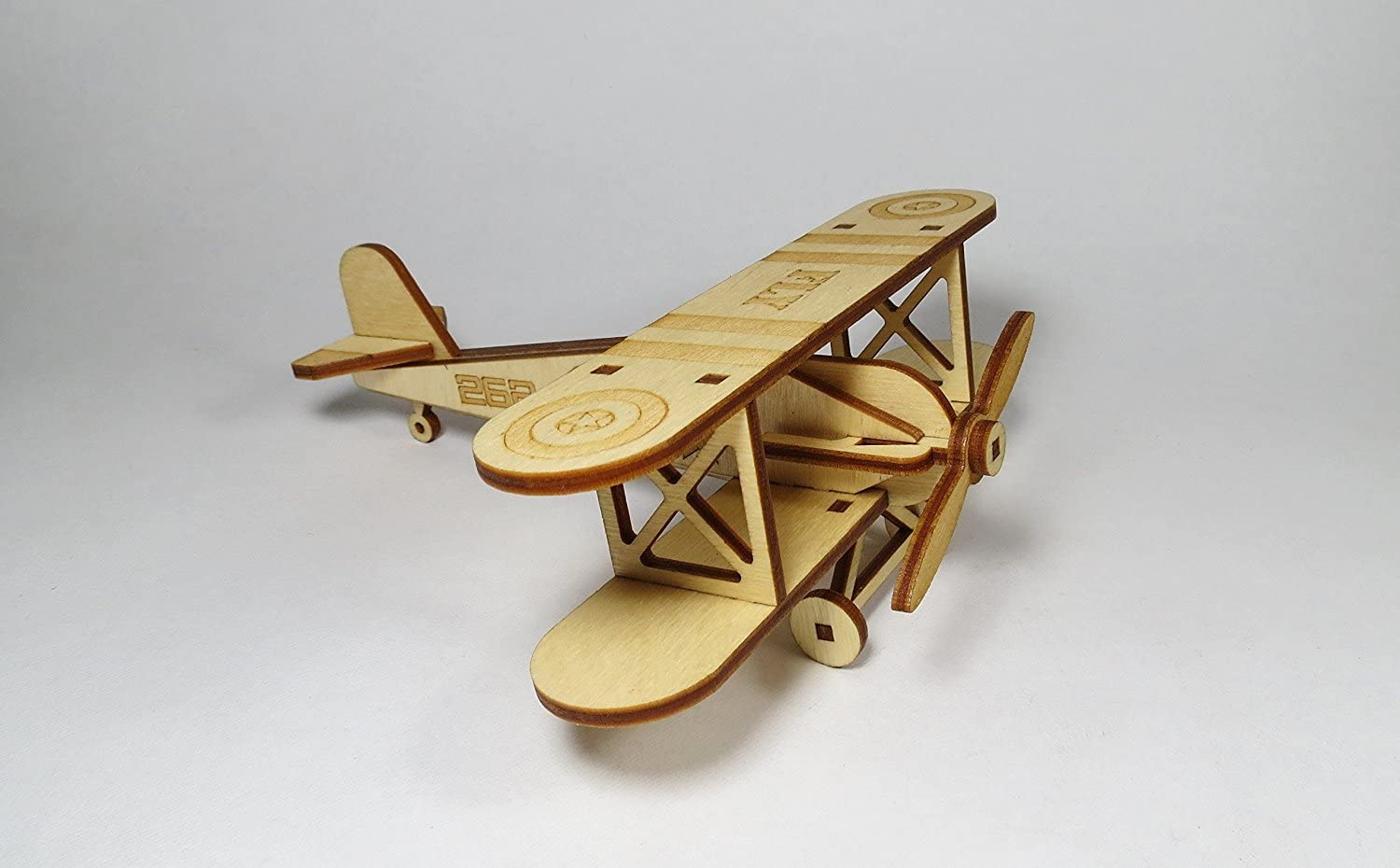 StonKraft Wooden 3D Glider Aeroplane Retro Plane Model - Home Decor, Construction Toy, Modeling Kit, School Project - Easy to Assemble