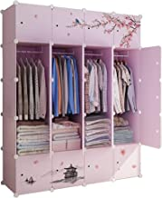 Portable Wardrobe Closets Combination Armoire Modular Cabinet Large-capacity Combined Storage Cabinet Easy Assembly and Di...