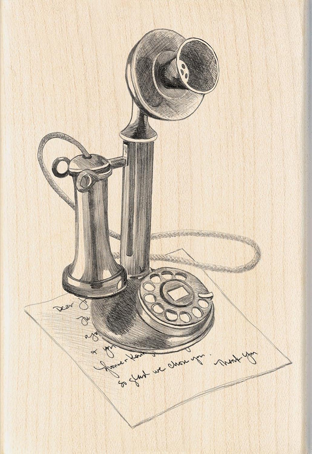 Inkadinkado Vintage Phone Wood Stamp