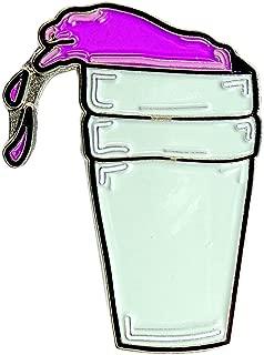 Purple Drank Sizzurp Lean Hip Hop Rapper Enamel Hat Backpack Pin