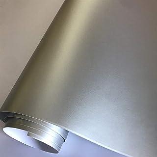OLDJTK 10//20//30//40//50x152cm Cromato Metallico Adesivo in Vinile Rosso Opaco Satin Rosso Auto Wrapping Film Moto Auto Body Wrap Foglio Color : Grey, Size : 10cm x 152cm
