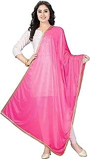Indian Dresses Store Rani Saahiba Women's net Dupatta Baby Pink
