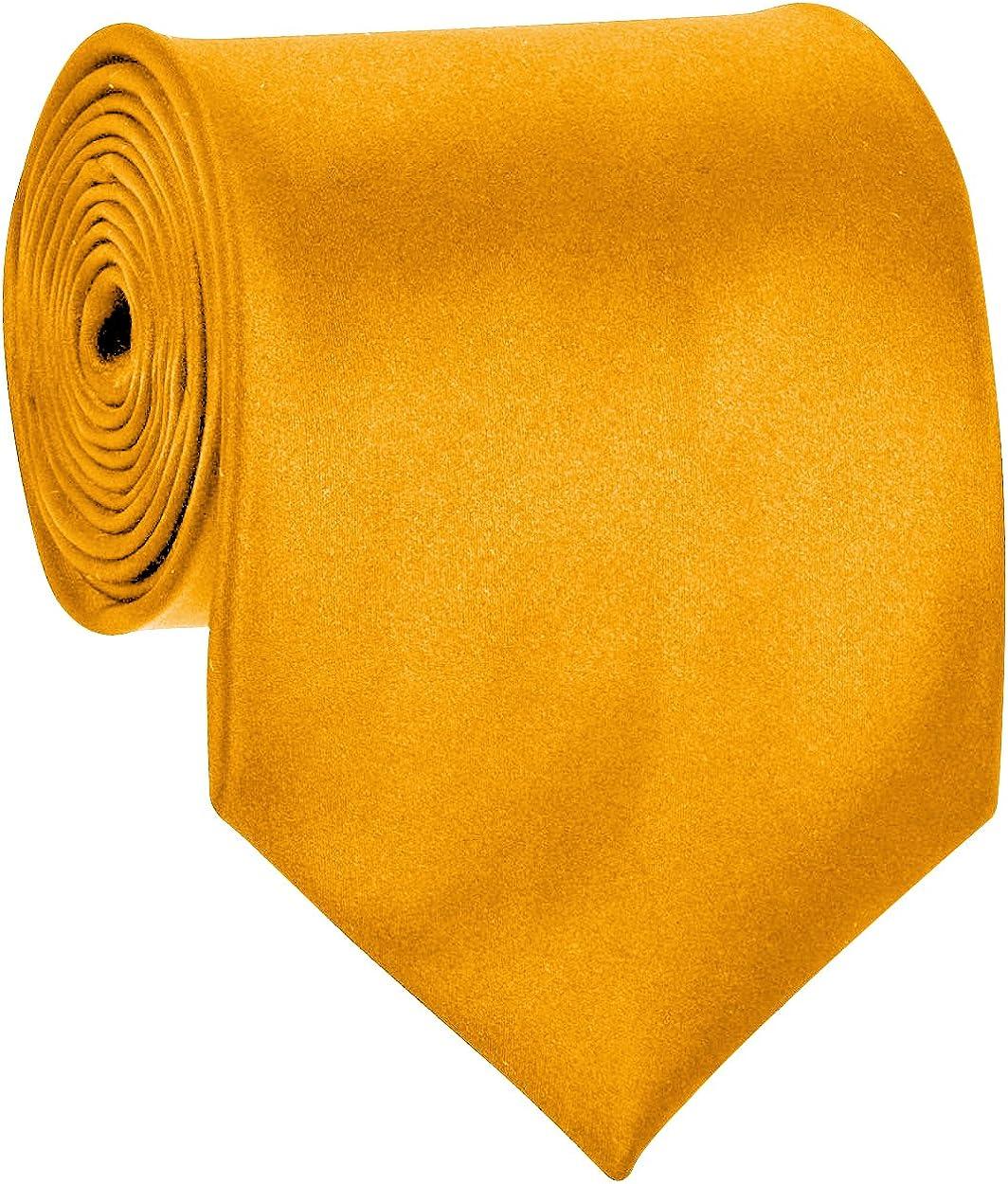 Mens Necktie SOLID Satin Sale item Golden Neck Cheap mail order specialty store Yellow Tie