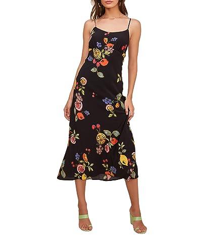 ASTR the Label Charisma Dress (Black Mixed Fruit Print) Women