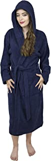 Women's 100% Terry Cotton Hooded Bathrobe Toweling Robe