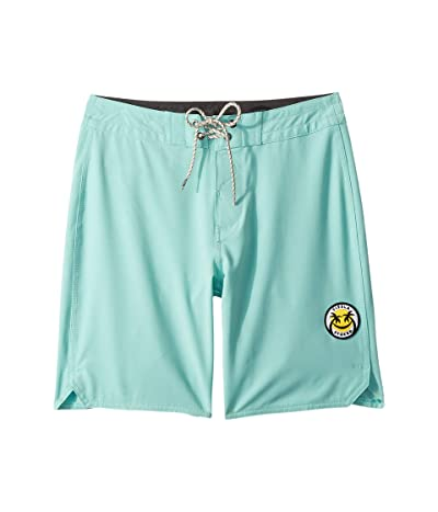 VISSLA Kids Solid Sets Boardshorts (Big Kids) (Light Jade) Boy