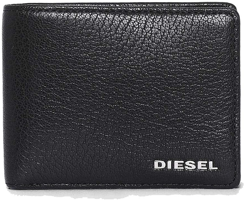Diesel Men's THESTARTER Neela XS Wallet, Black/Light Grey