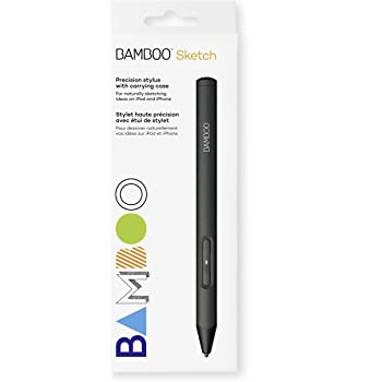 Wacom CS610PK Bamboo Sketch, CS-610PK (Fine Tip Stylus By, Natural Sketching on iPad and iPhone), Black