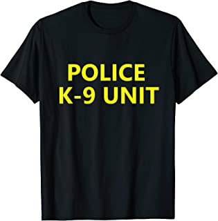 Halloween Police K-9 Unit Shirt Costume Officer Dog Canine