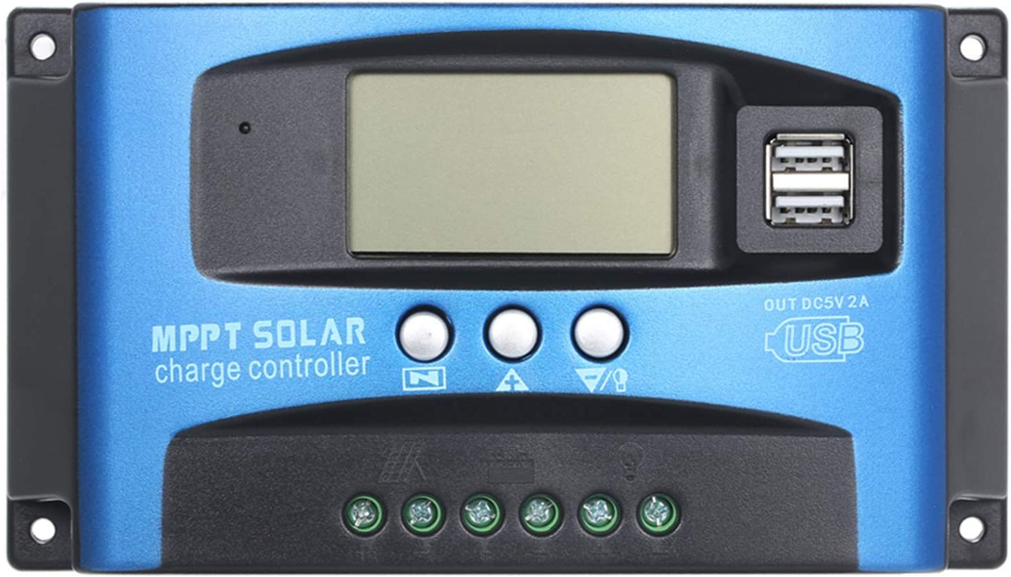 1 year Outlet sale feature warranty Gecheer MPPT Solar Charge Controller Dual USB S Auto LCD Display
