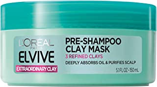 L'Oréal Paris Elvive Extraordinary Clay Pre-Shampoo Mask, 5.1 fl. oz. (Packaging May Vary)
