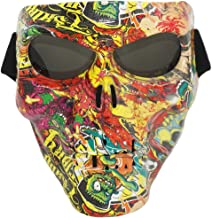 Vhccirt Skull Face Mask with Goggles Windproof Tactical Skeleton Ghost Spooky Mask for Airsoft/Paintball/Motorcycle/Motorbike/Motor Racing