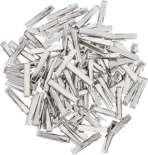Baoblaze 100 Pieces Silver Blank Hair Slides Clip Bows Hair Pin Barrette Duckbill Alligator Barrette Hair Clip Blanks Find...