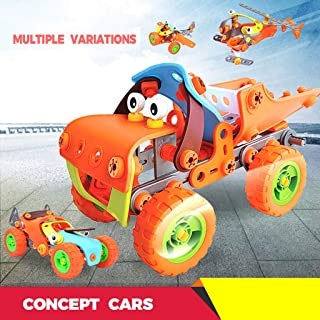 Anyren Children DIY Assembly Puzzle Screw Block Truck Educatinal Toy Gift with 5 PCS