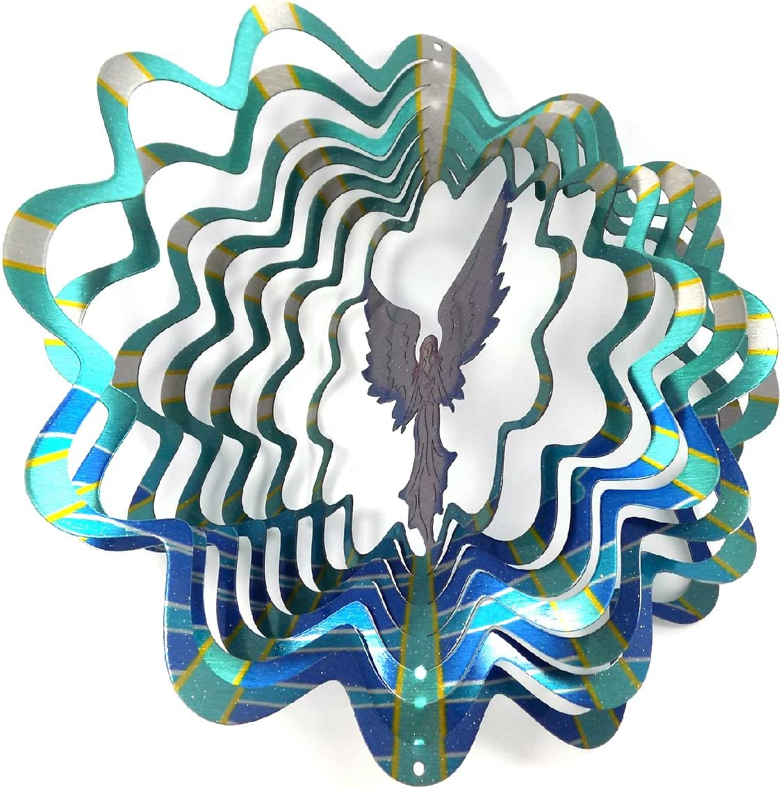 WorldaWhirl Whirligig 3D Wind online shopping Spinner Painted Ste Ranking TOP13 Stainless Hand