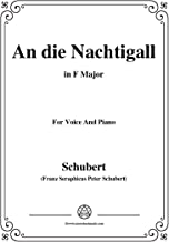 Schubert-An die Nachtigall,in F Major,Op.98 No.1,for Voice and Piano (French Edition)