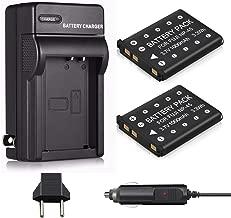 Venwo 2 Pack NP-45 NP-45A NP-45B NP-45S Battery & Charger for Fujifilm INSTAX Mini 90, FinePix XP20 XP22 XP30 XP50 XP60 XP70 XP80 XP90 T350 T360 T400 T500 T510 T550 T560 JX500 JX520 JX550 Camera